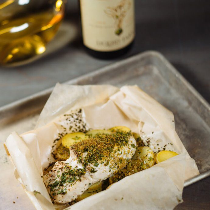 The Taste SF loves to make halibut and these paper parchment bags are simple to use