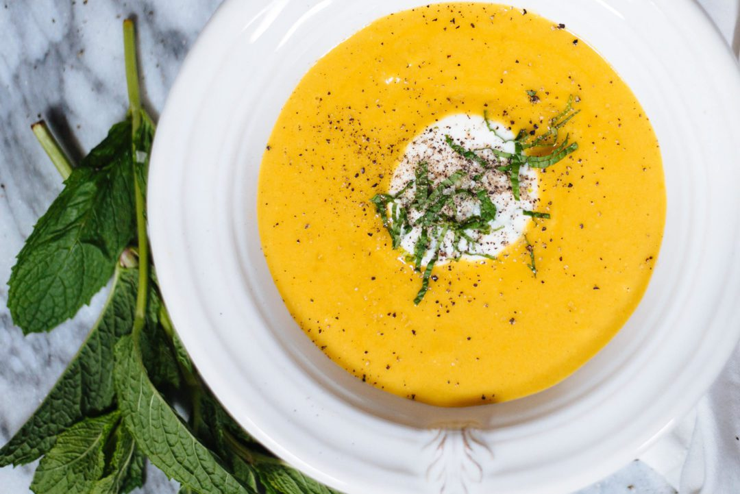 The Taste SF makes spicy summer squash soup in the summer for a vegetarian recipe