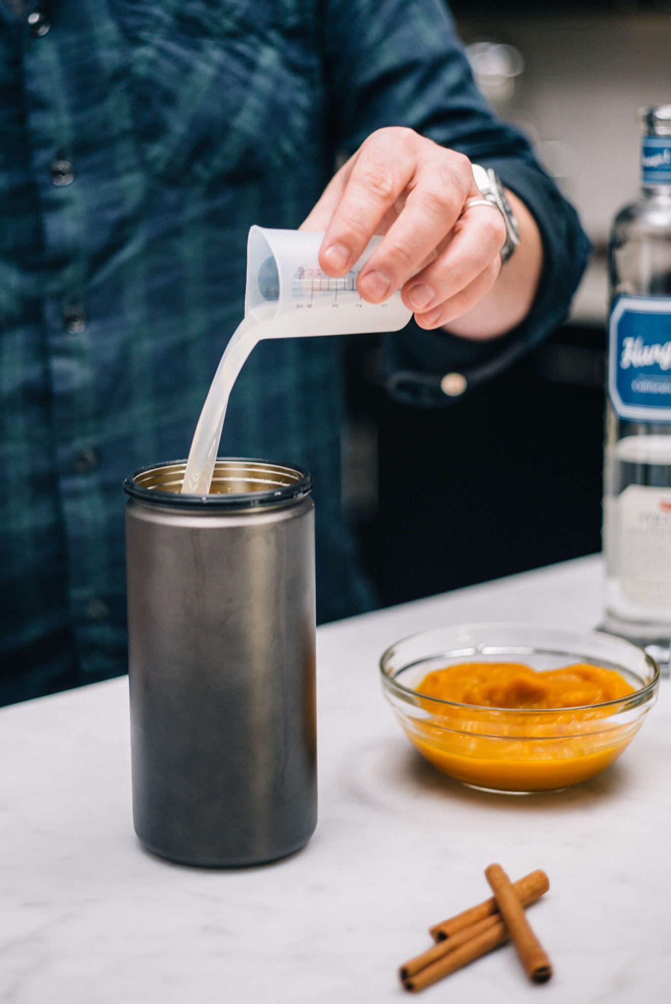 The Taste SF adds Horchata and Ginger Liquor with Hangar 1 Straight Vodka to makes Pumpkin Spice Cocktails