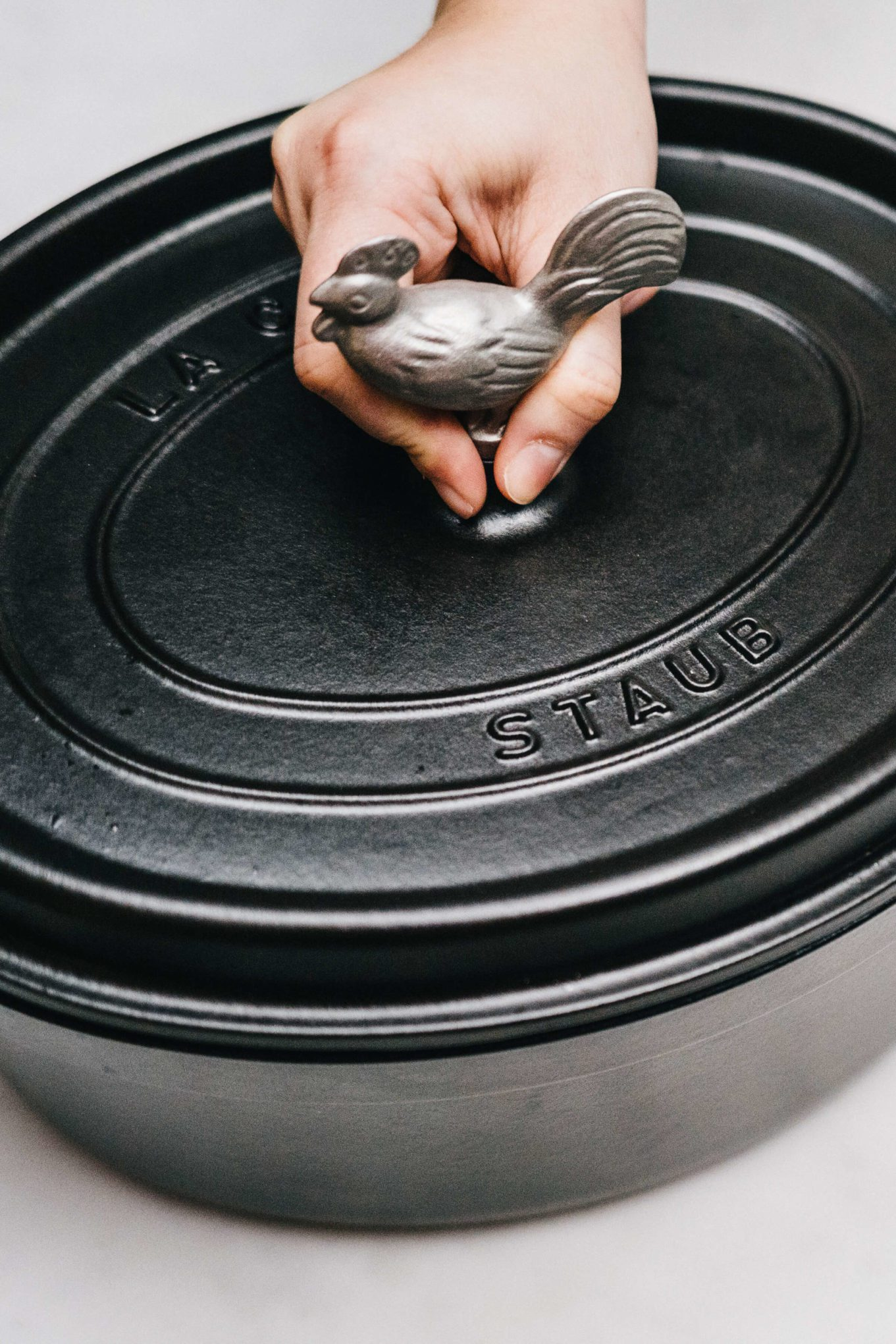 Staub Coq Au Vin with enamel coating is perfect to keep things warm and cook evenly