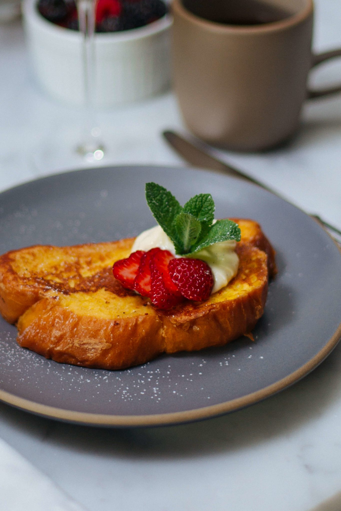 This simple Whipped Ricotta French Toast recipe is made with Grand Marnier by The Taste SF