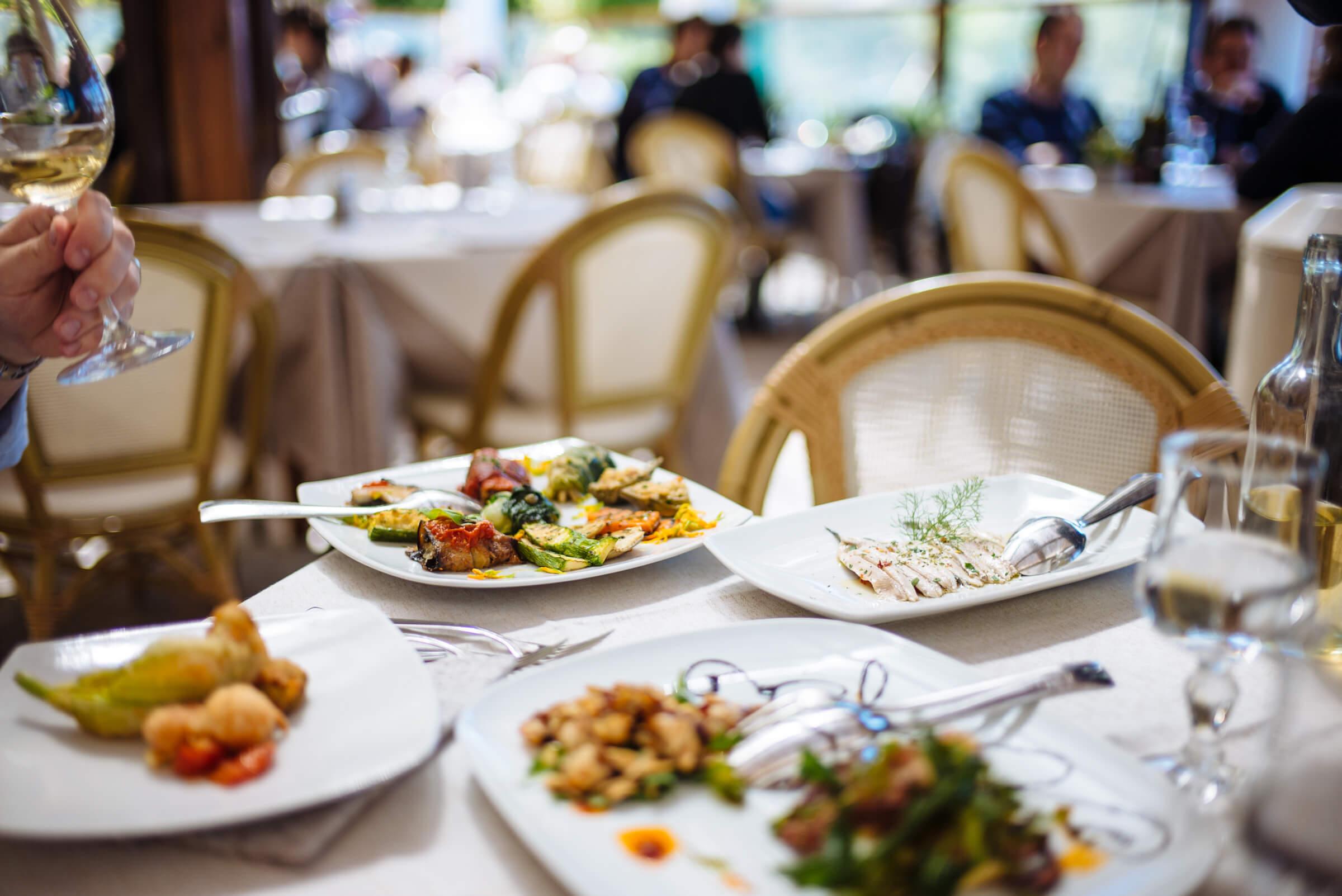 appetizers at da gelsomina restaurant in capri, italy, the taste sf
