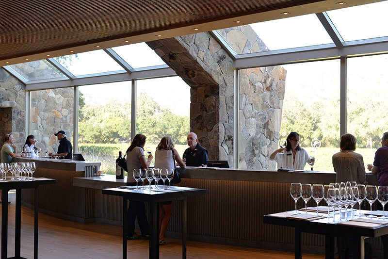 Stags Leap Winery Napa tasting room