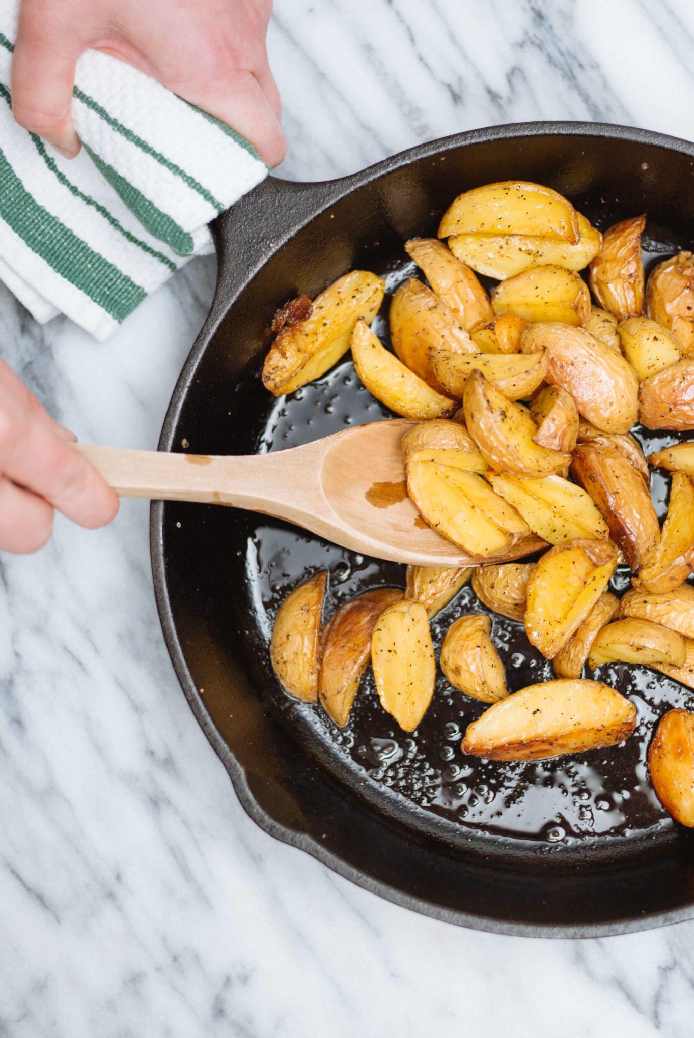 The Taste Edit likes to make cast-iron skillet roasted potatoes