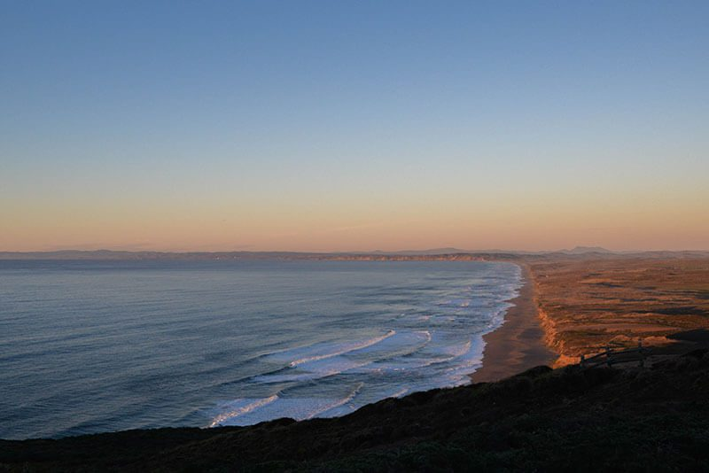 point reyes national seashore sunset