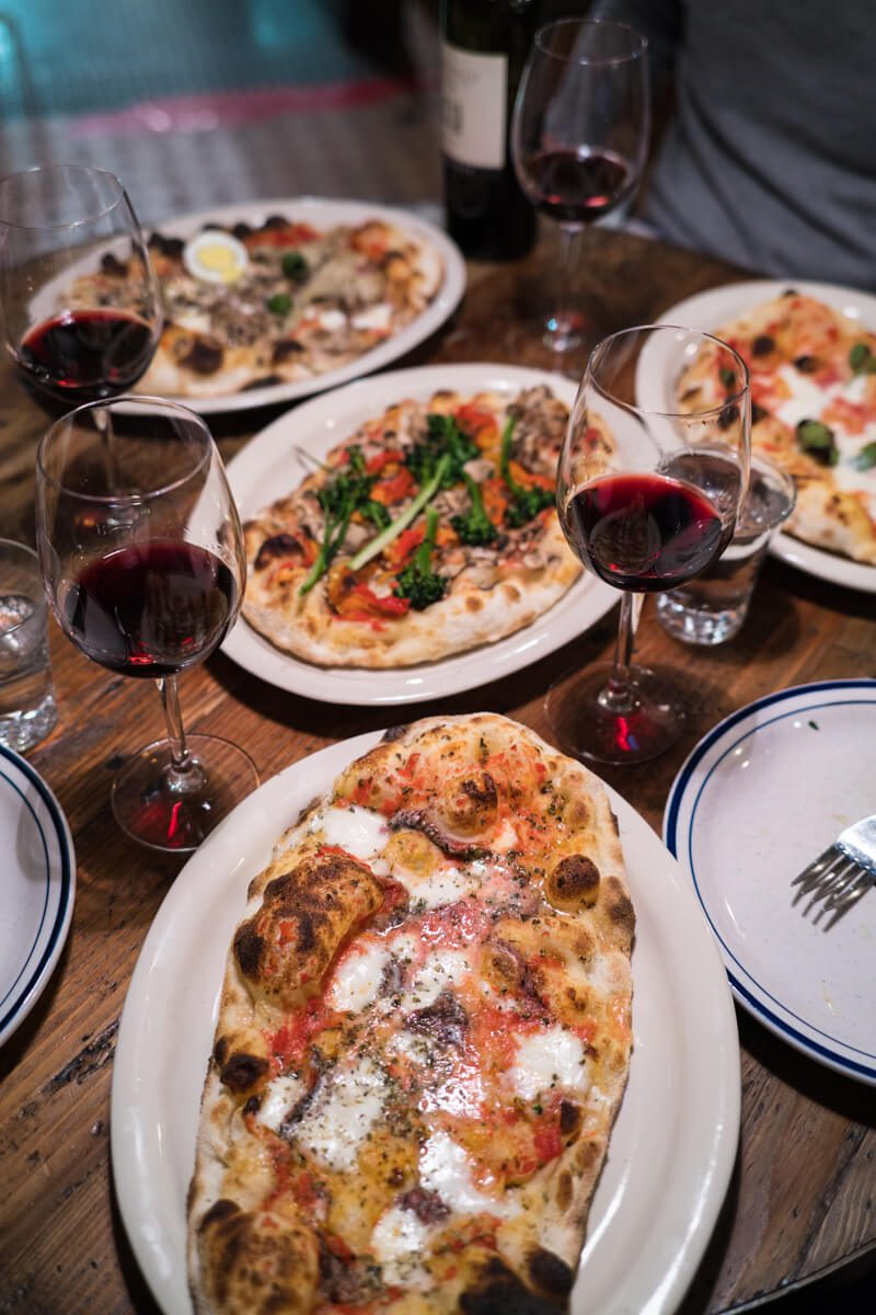 The Taste Edit recommends ordering one of the pinas as or pizza at best Italian restaurant in San Francisco, visit montesacro pinseria in San Francisco.