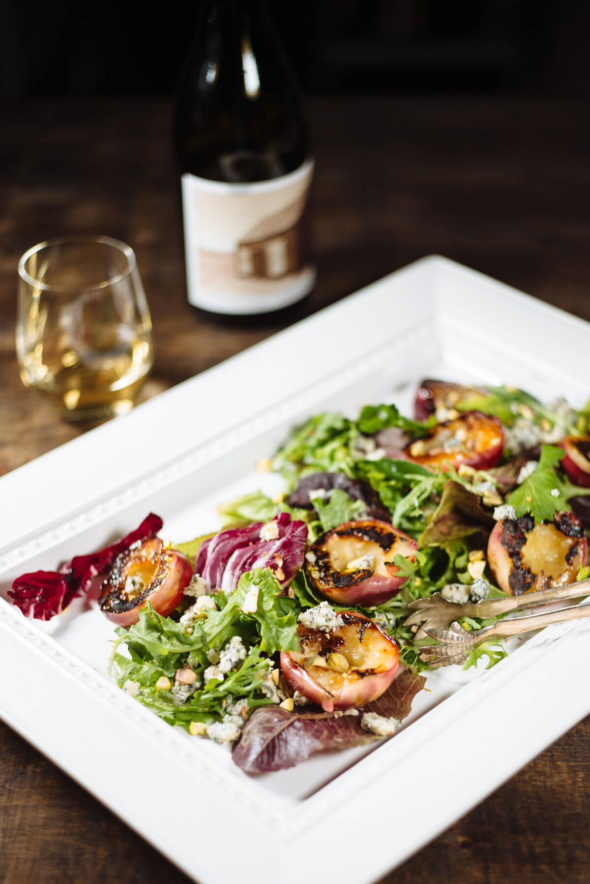 The Taste Edit's grilled stone fruit salad to pair with crawford family winery