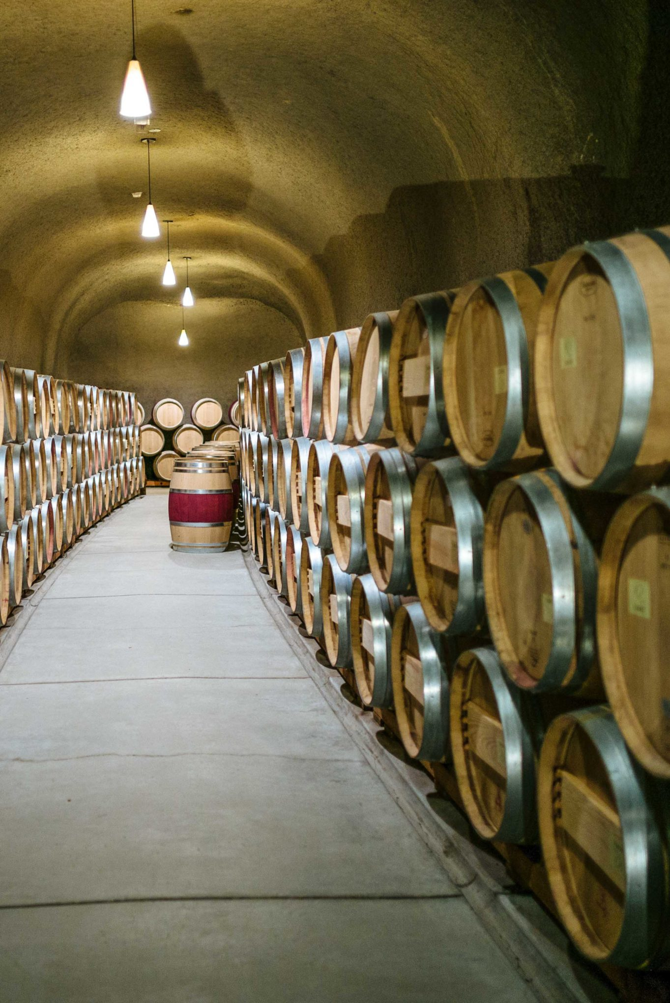 Quintessa winery wine caves in Napa Valley