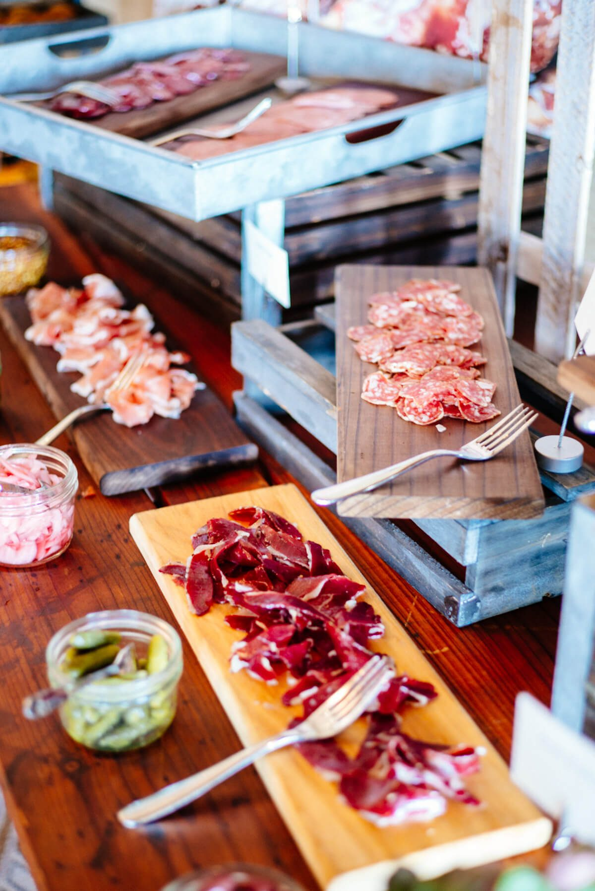 Assorted Meats at Saturday Farmers Market Brunch at Navio The Ritz-Carlton Half Moon Bay