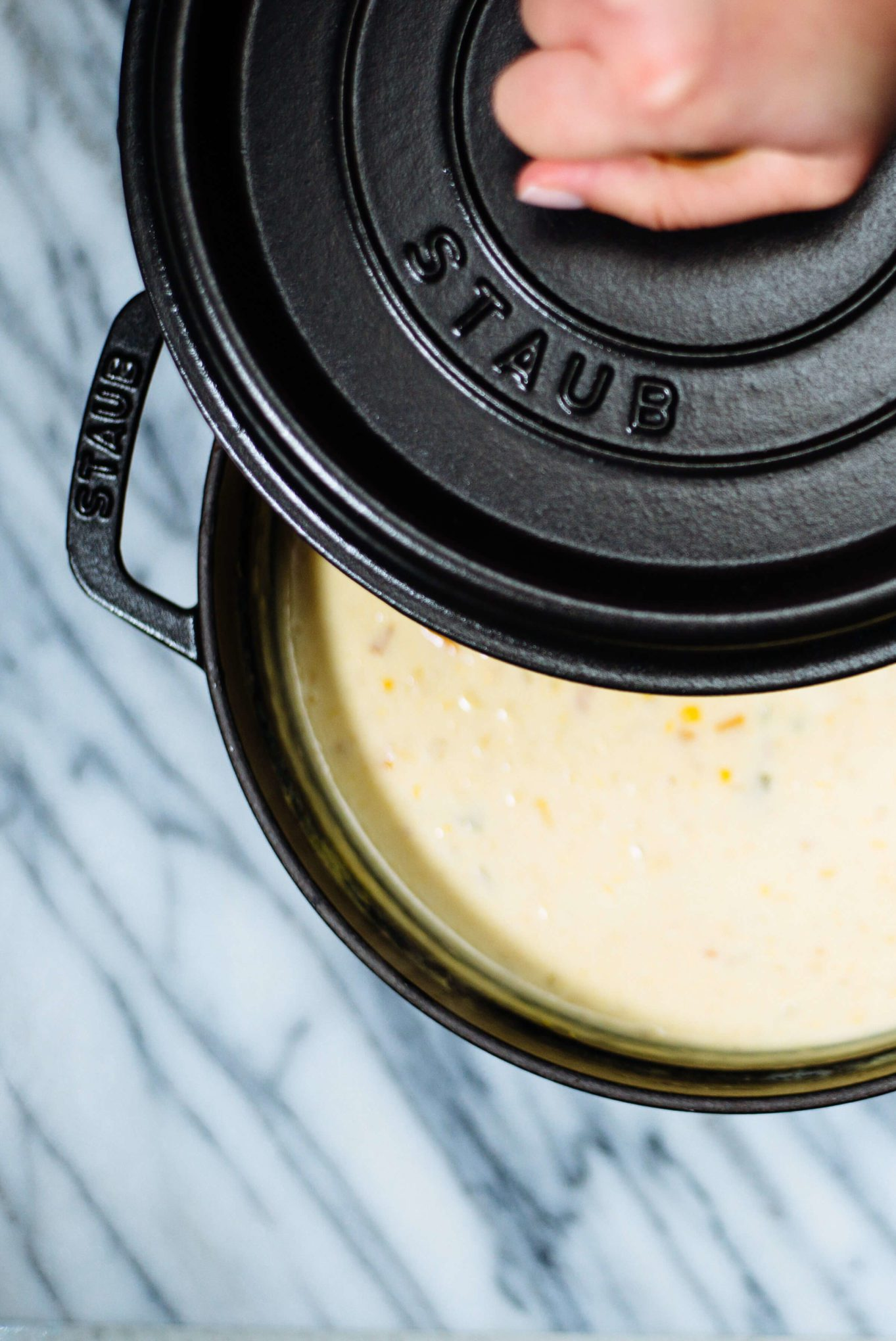 The Taste Edit loves to use their Staub pot to make Spicy Corn Chowder