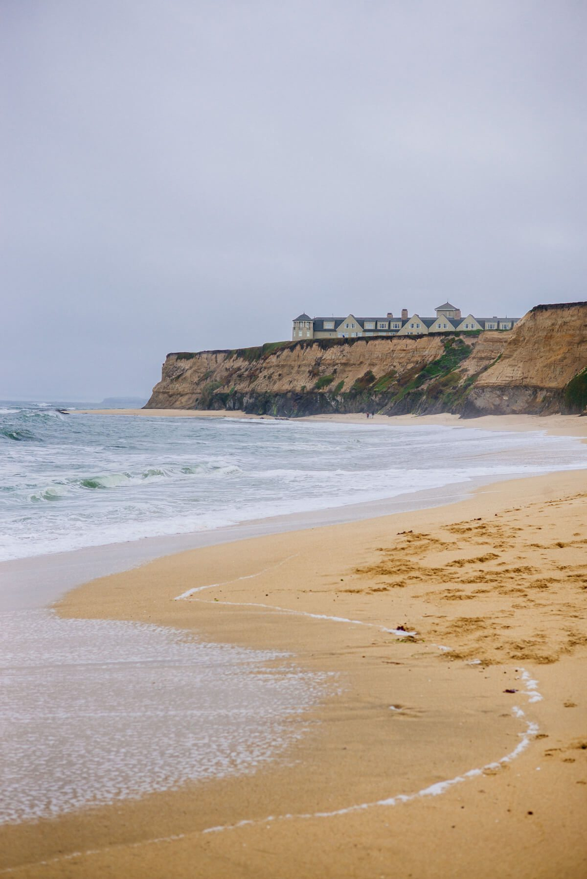 Looking back from the ocean at The Ritz-Carlton Half Moon Bay