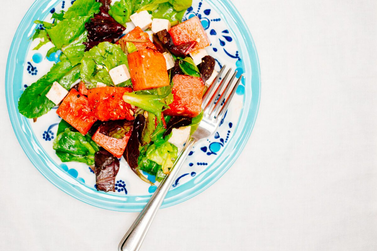 Watermelon Ricotta Salata Salad is great for summer picnic, grill, or bbq