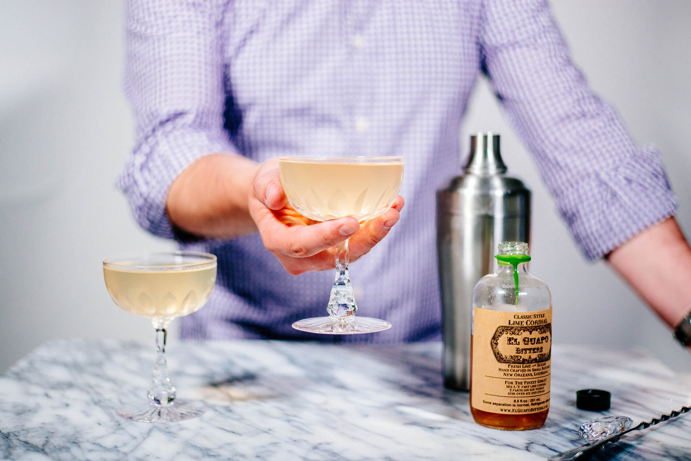 El Guapo Gimlet is simple and delicious made by The Taste Edit
