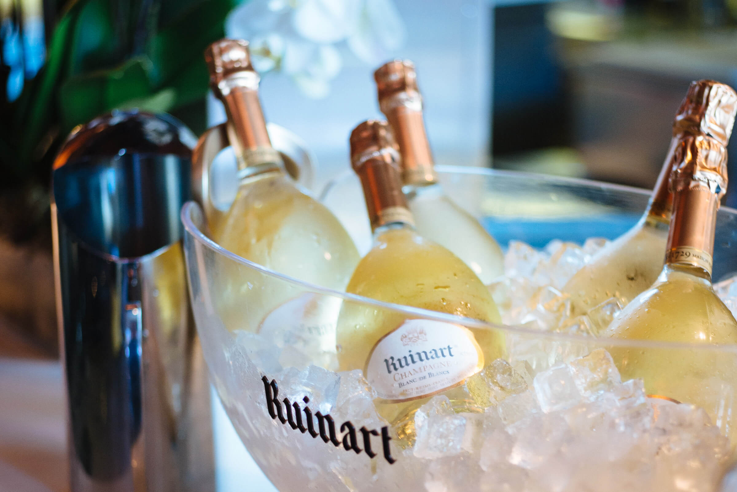 Ruinart champagne is a fabulous way to start a party