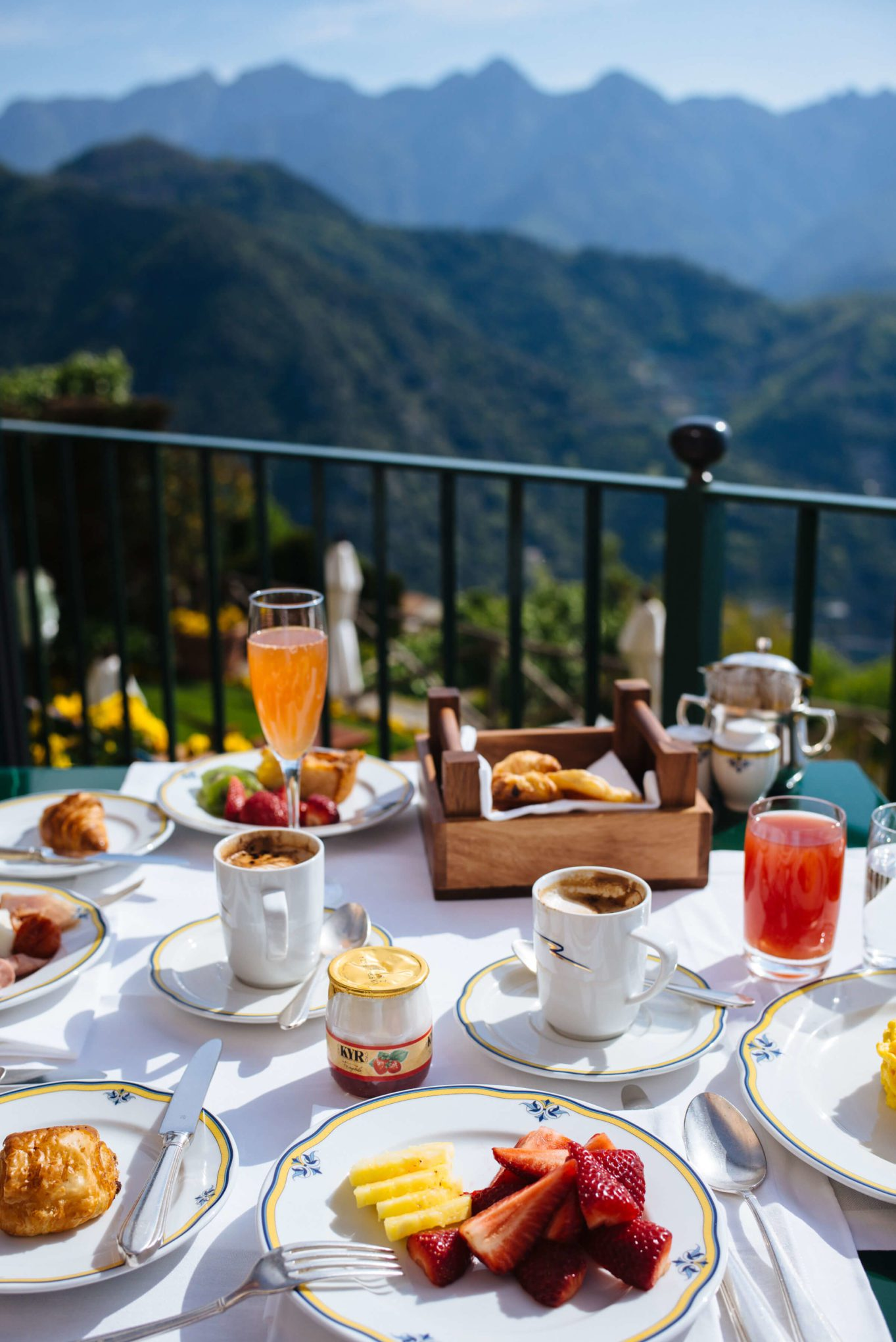 Breakfast with a view at Palazzo Avino in Ravello, Italy, The Taste SF