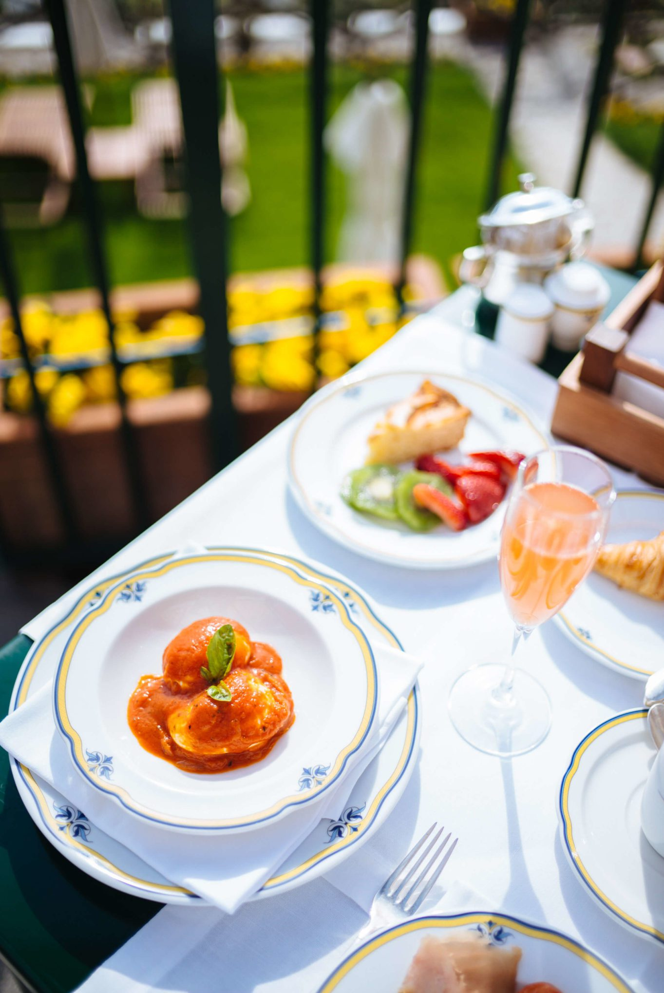 Breakfast includes eggs cooked to order at Palazzo Avino in Ravello, Italy, The Taste Edit