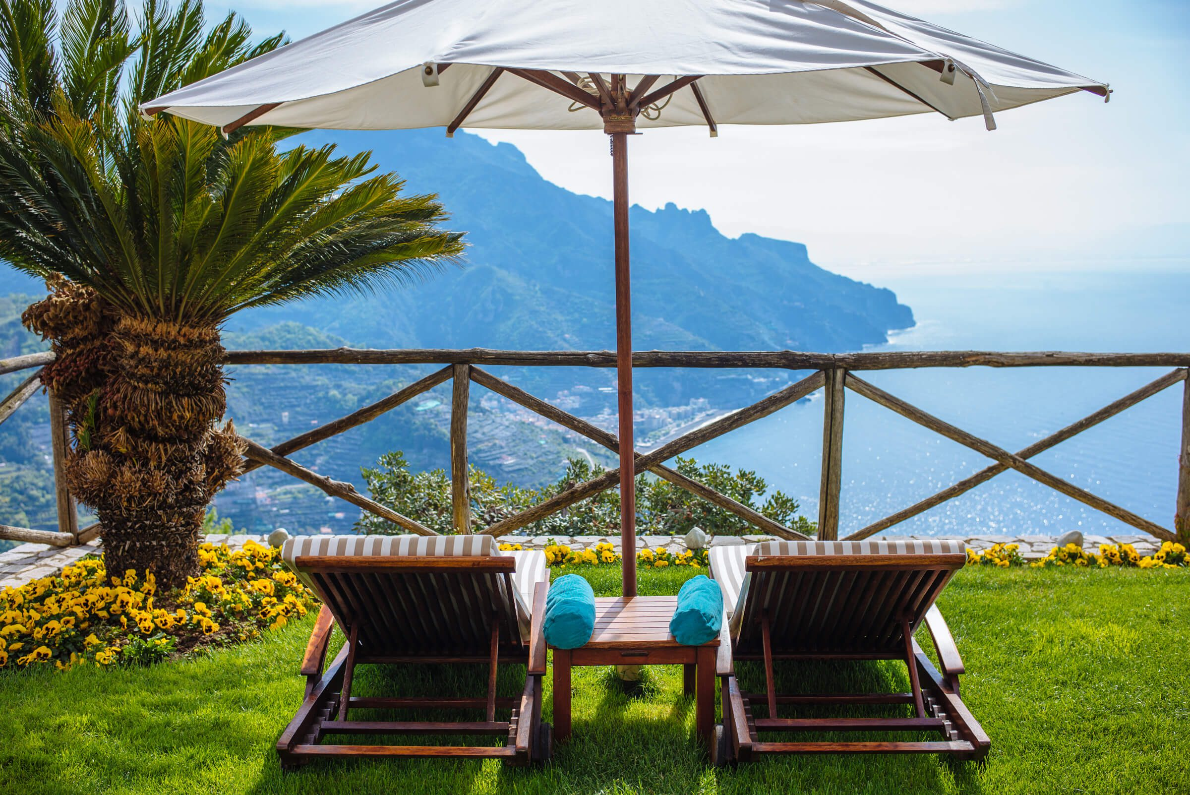 The terraces of the best hotel in Ravello, Palazzo Avino in Ravello, The Taste SF