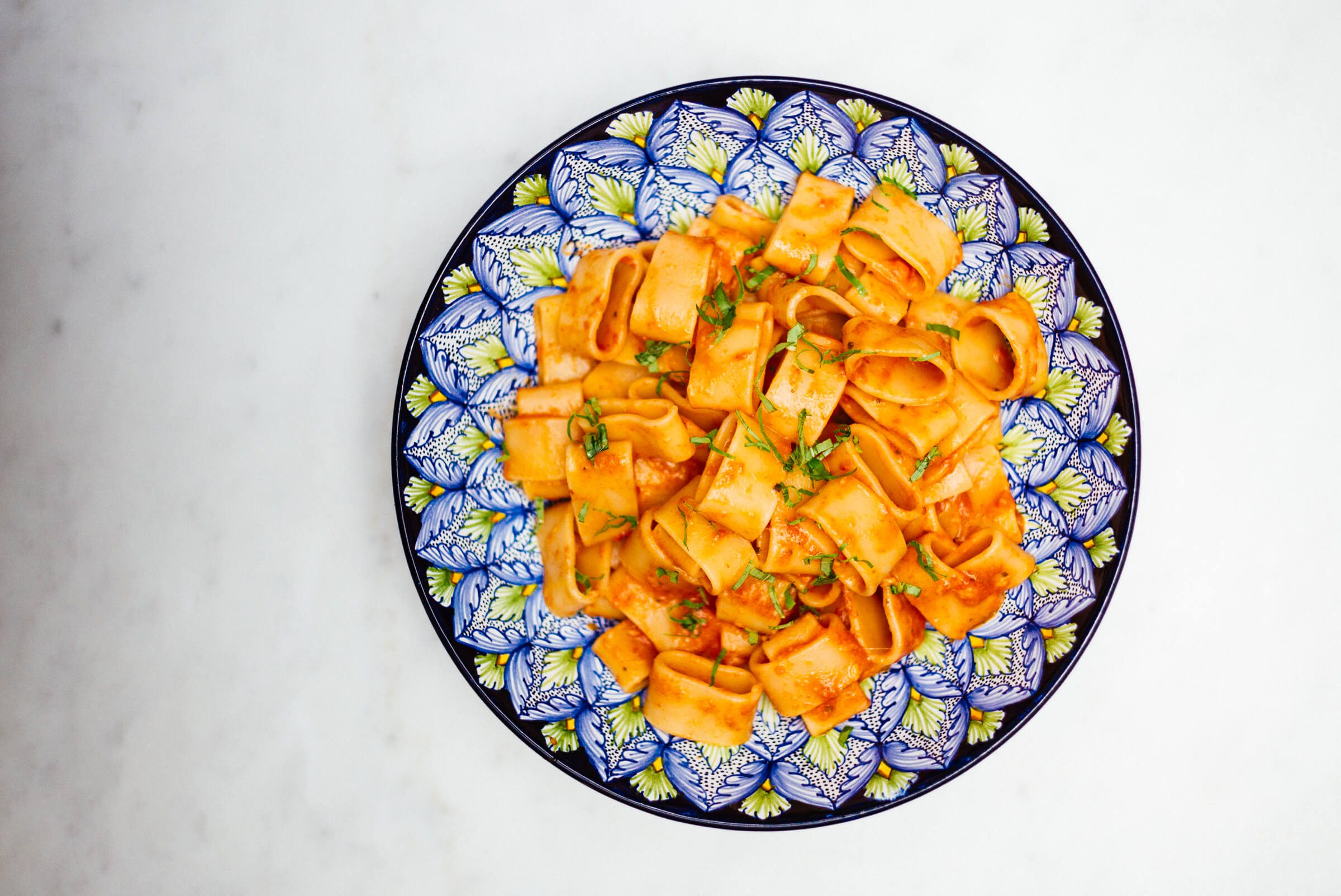 Calamarata with fresh tomato sauce is a simple and delicious italian recipe for dinner
