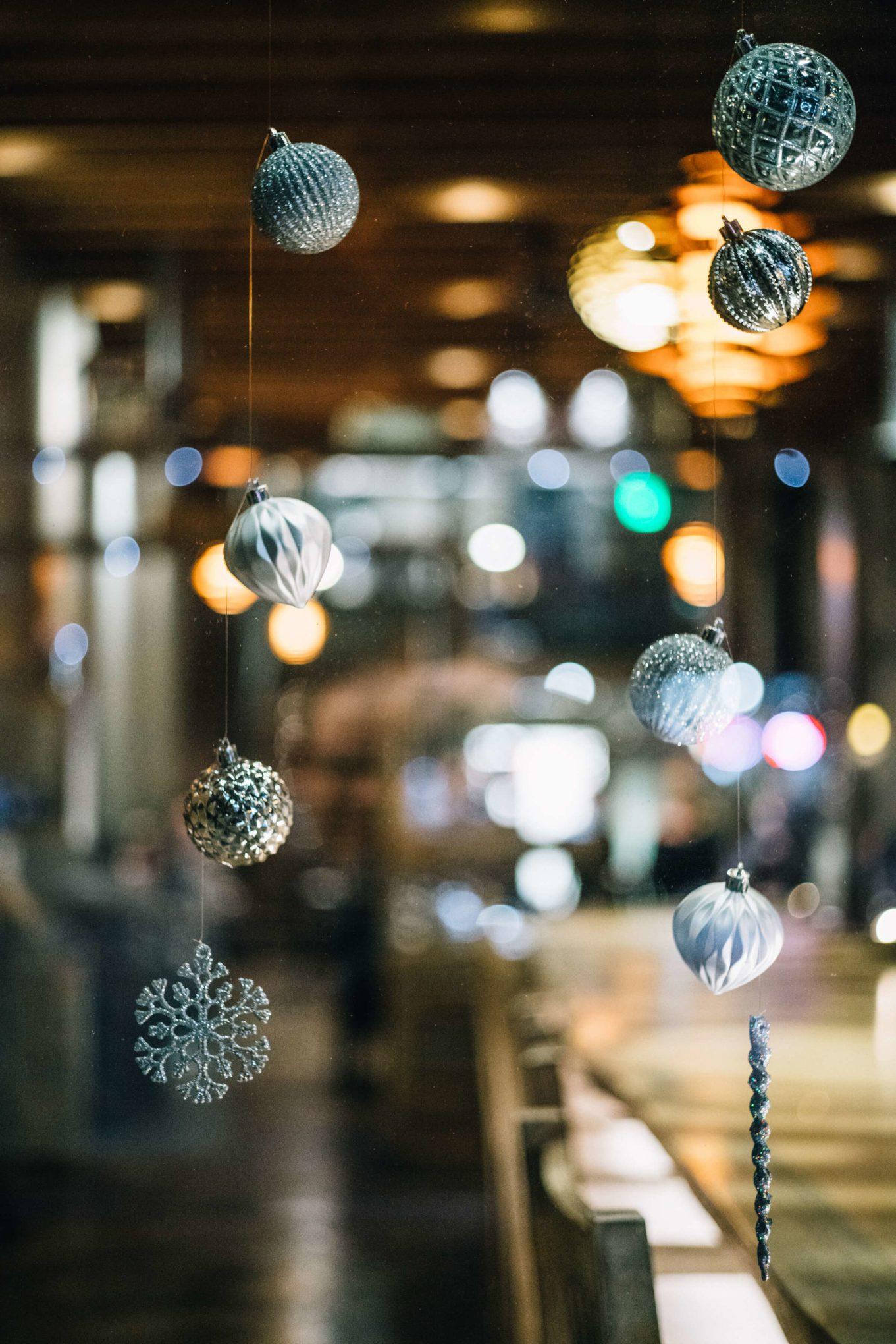 Christmas Decor at Restaurant Trokay in Truckee, Tahoe, California with The Taste Edit