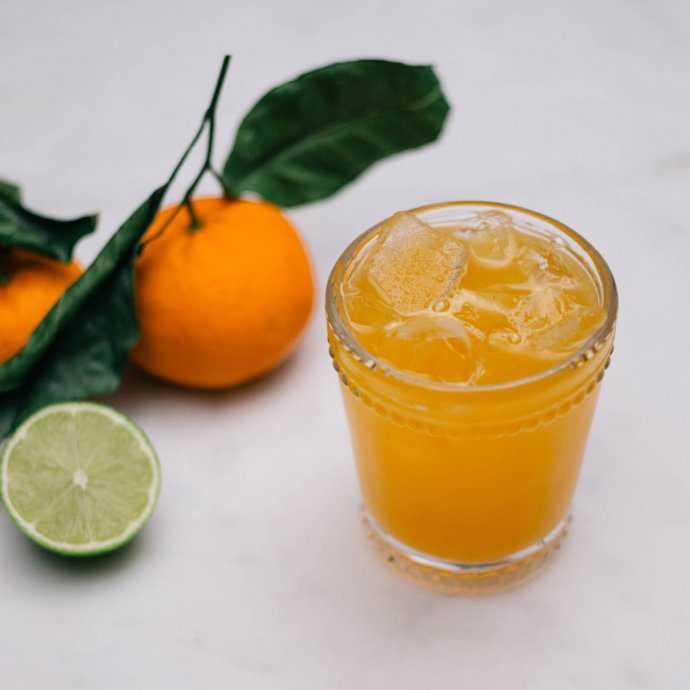 Indian Summer Cocktail made with scotch and clementines from Women & Whiskies