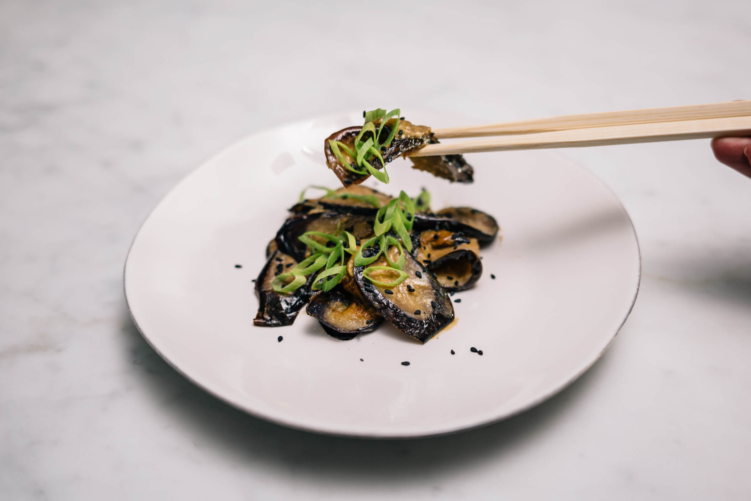 simple miso eggplant recipe with The Taste SF