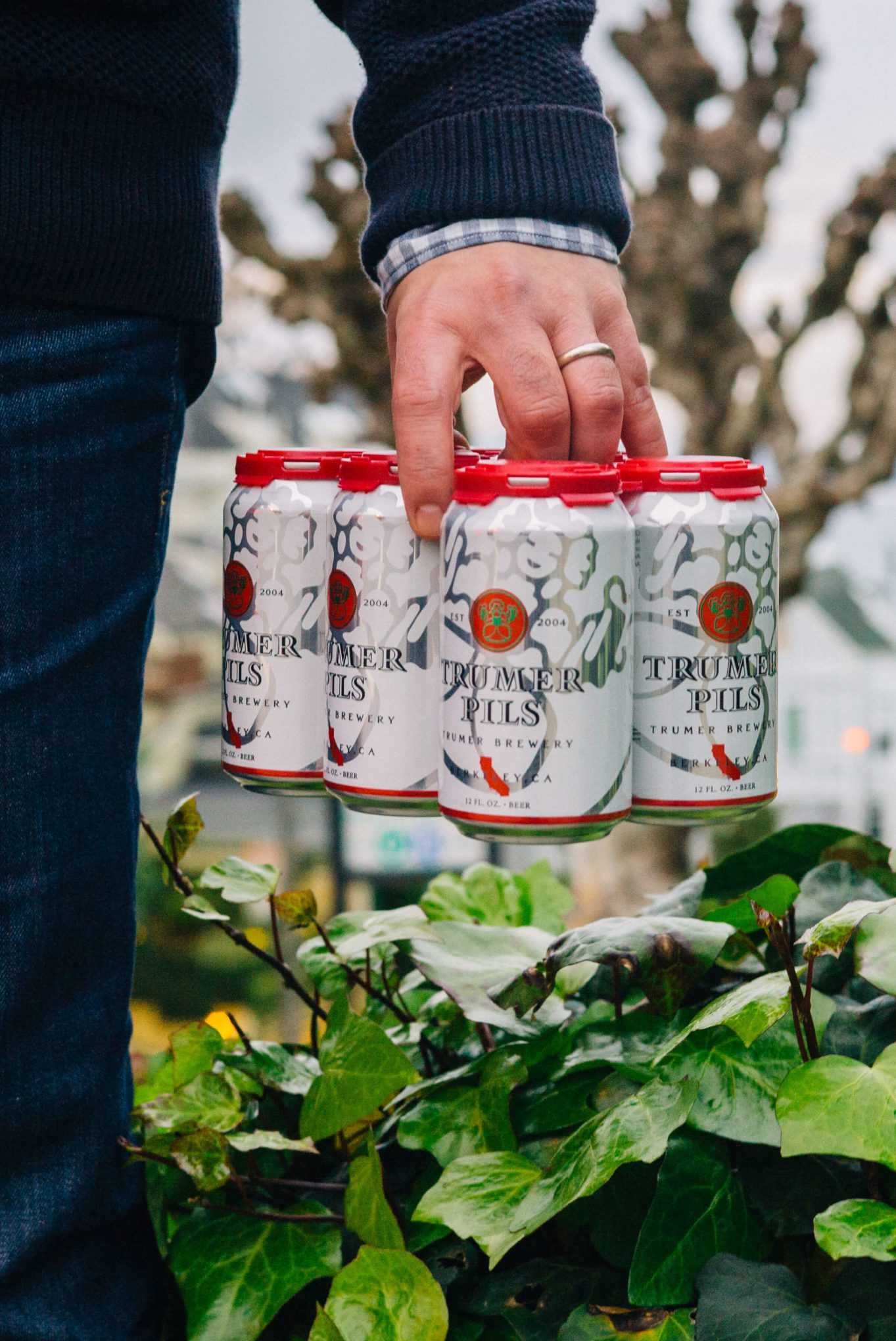 The Taste SF carrying Trumer Pils beer now available in Cans up the hills of San Francisco