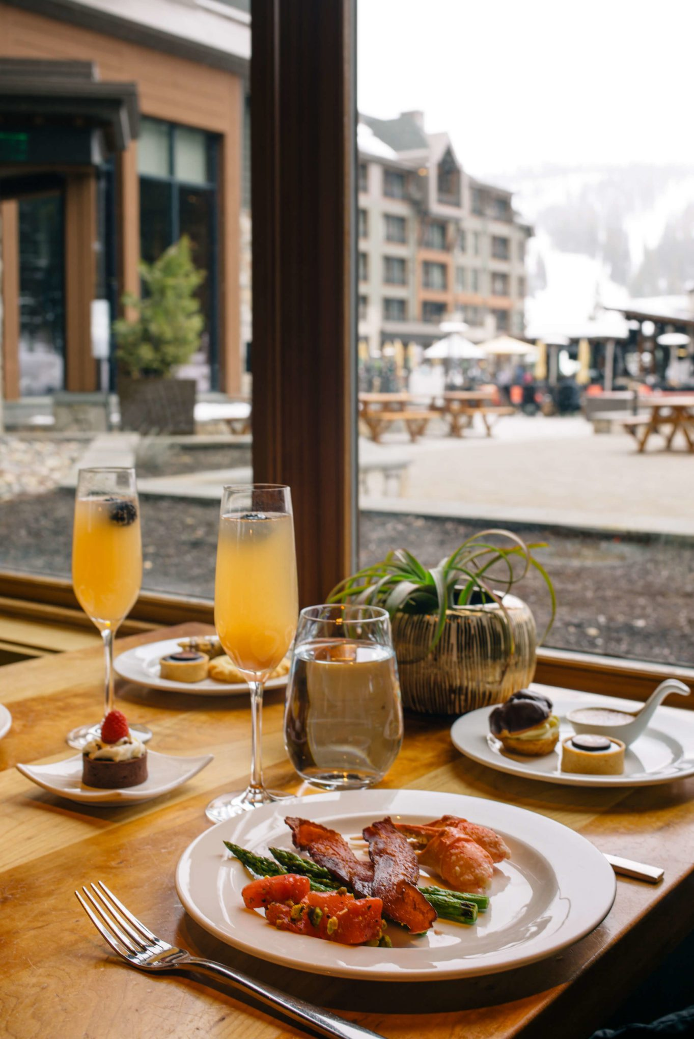 Brunch at Manzanita at The Ritz-Carlton Lake Tahoe CA overlooking the ski slopes, The Taste SF