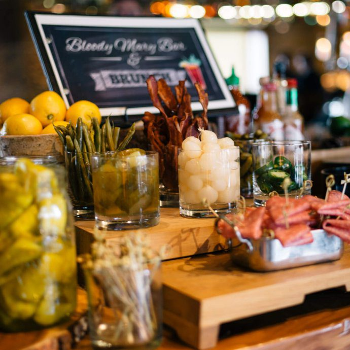 Bloody Mary and Mimosa bar at Brunch at Manzanita at The Ritz-Carlton Lake Tahoe CA, The Taste Edit