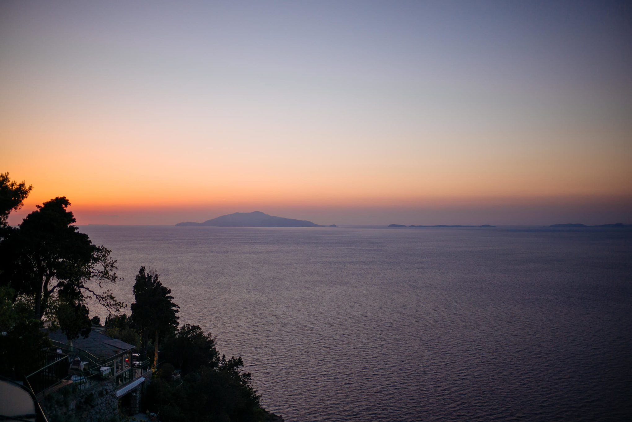 Terrace at Hotel Caesar Augustus in Capri is the perfect place to watch the sunset - says The Taste SF