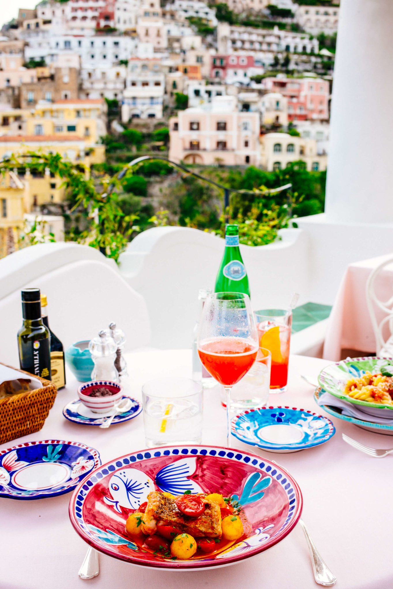 Lunch at The view of Positano from Le Sirenuse in Positano Italy, The Taste Edit