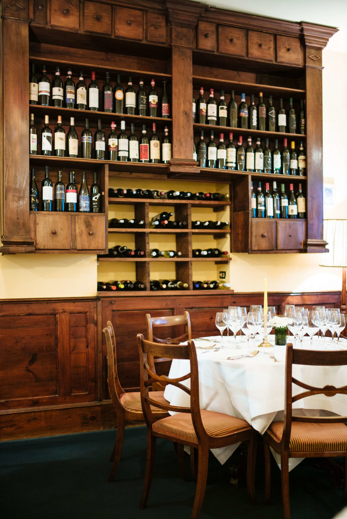 Wine collection at Ristorante Cibreo in Florence, The Taste SF