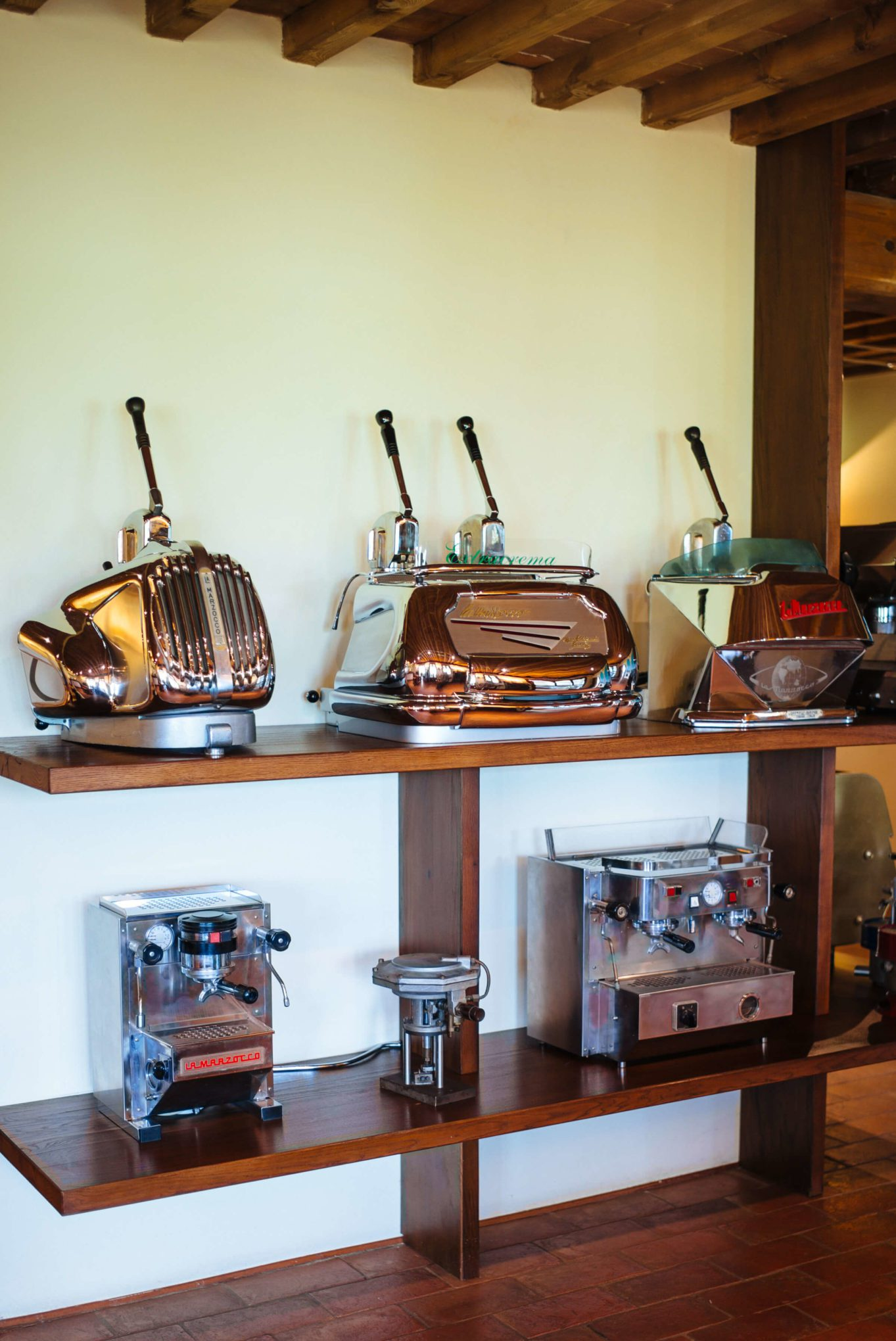 Older models of La Marzocco Factory Tour in Florence, The Taste Edit