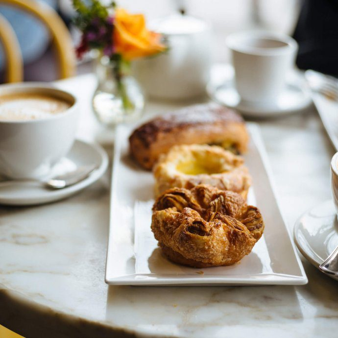 B Patisserie breakfast with French pastriess and coffee including French kouign amanns in San Francisco, The Taste Edit