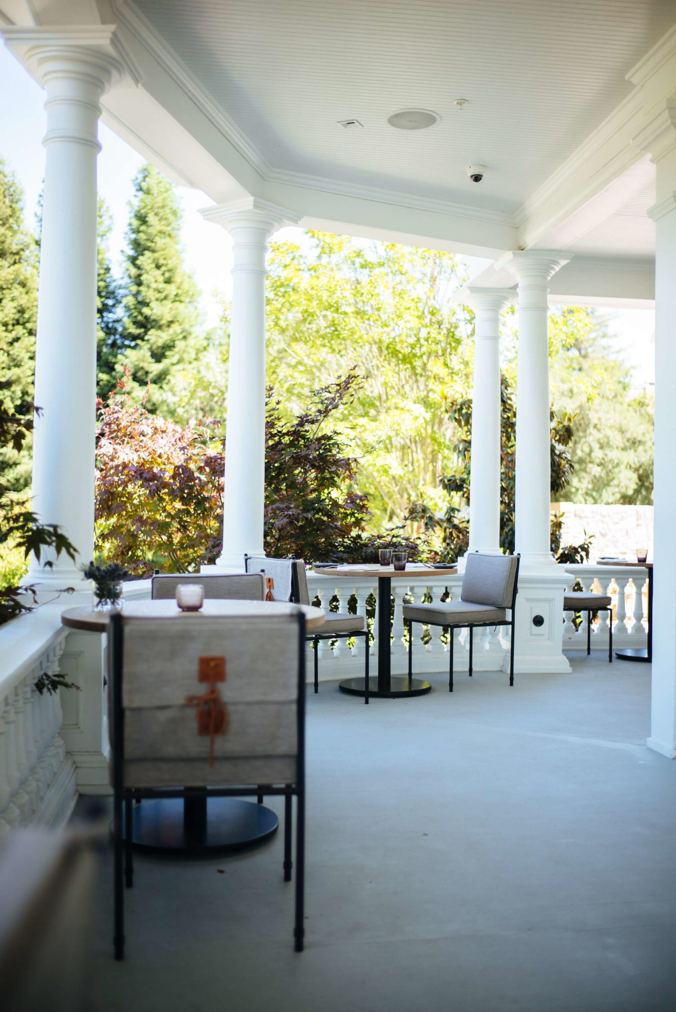 The porch at Acacia House in Napa, The Taste Edit