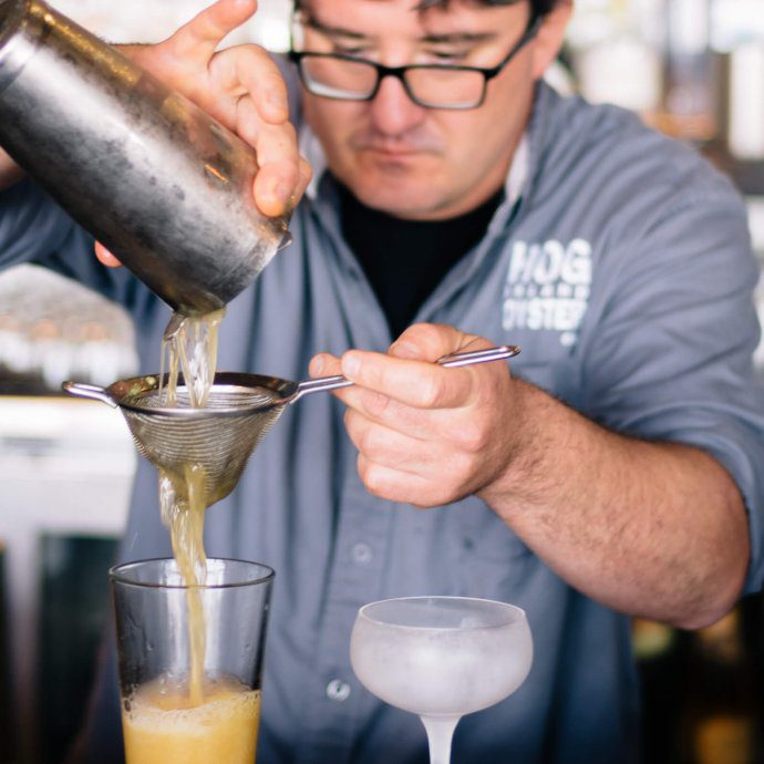 Saul Ranella makes a Pacific Drift Beer Cocktail from Hog Island Oyster Company, The Taste Edit