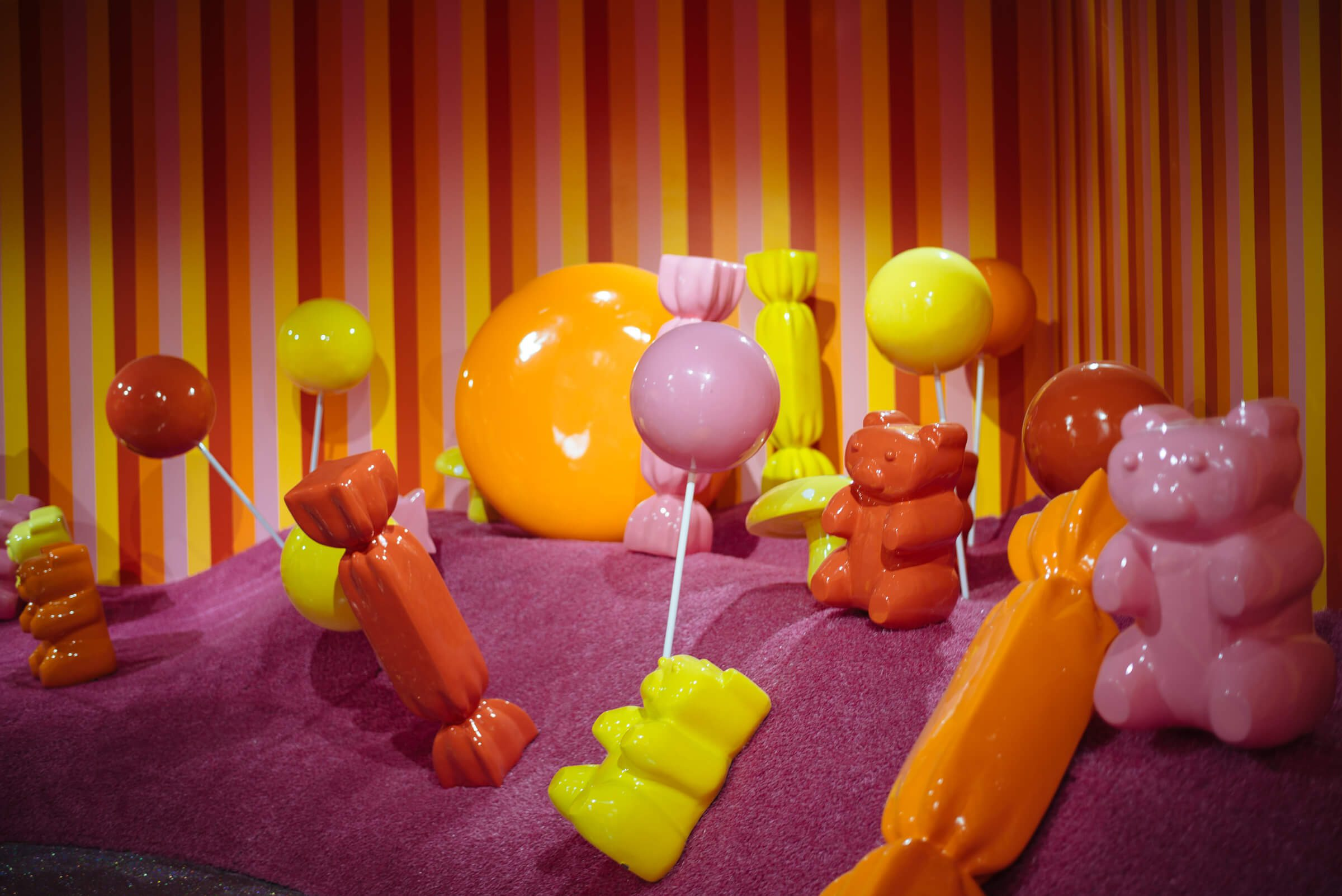 Gummy Bear Candy Garden Room at The Museum of Ice Cream San Francisco, The Taste SF