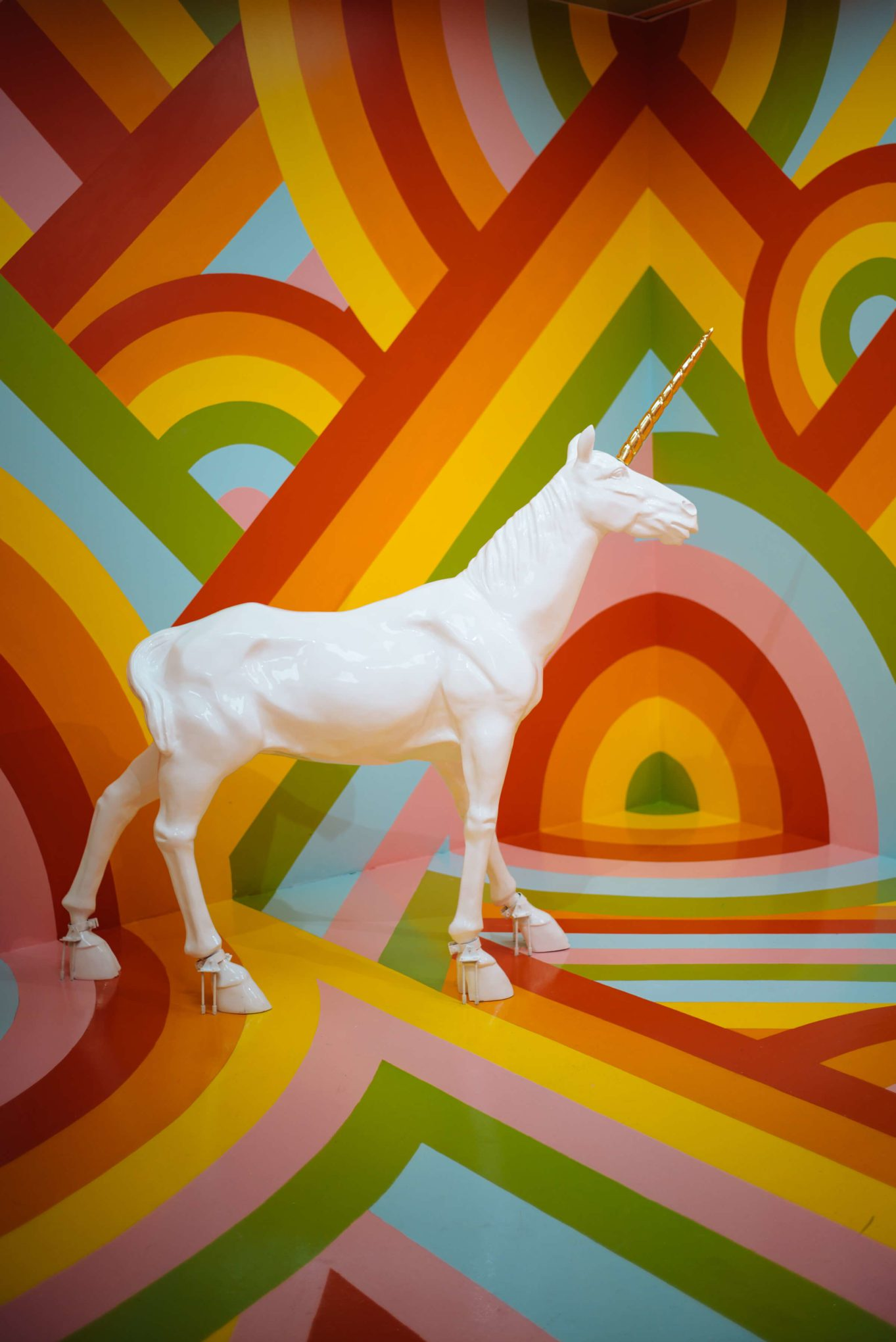 The colorful unicorn room at The Museum of Ice Cream San Francisco, The Taste SF