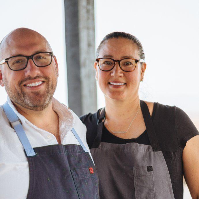 Greg Denton and Gabrielle Quiñónez-Denton james beard award winning chefs from Ox Restaurant and Superbite in portland OR, The Taste SF
