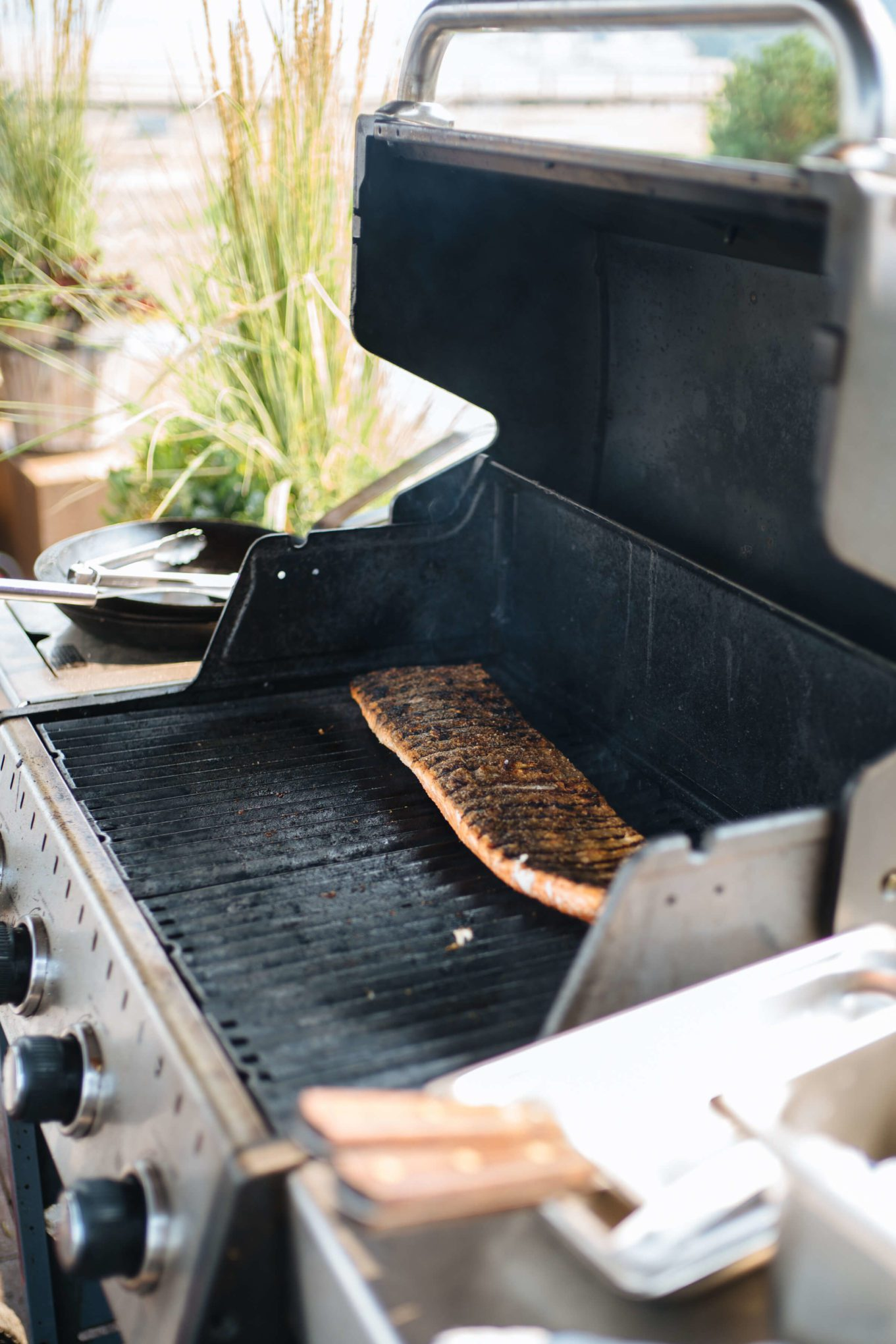 How to grill salmon with skin, the resort at paws up, montana glamping, cookbook live, greg denton OX restaurant Portland, The Taste Edit