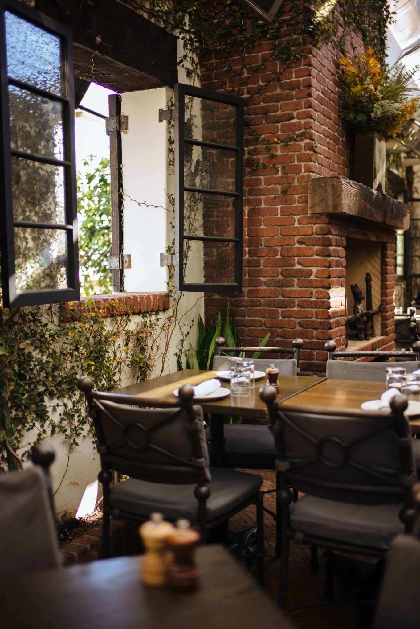 Adorable patio at AOC in los Angeles, The Taste SF