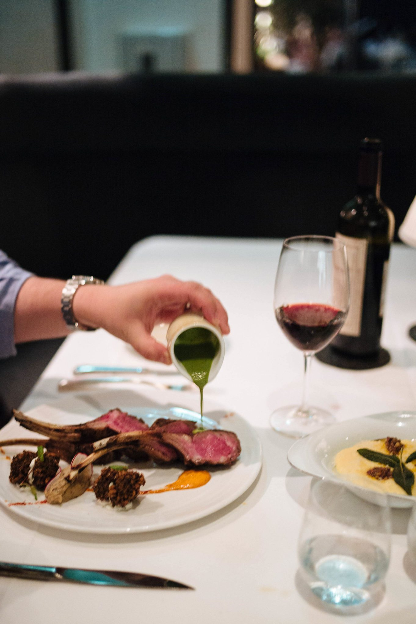 Lamb at Wolfgang Puck's best restaurant in Beverly Hills, LA, Spago Beverly Hills, Los Angeles, The Taste Edit