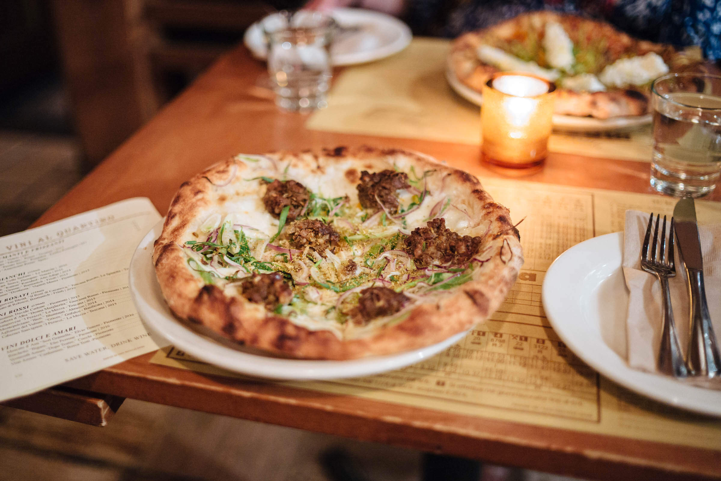 Sausage pizza at Pizzeria Mozza, West Hollywood, LA, The Taste Edit