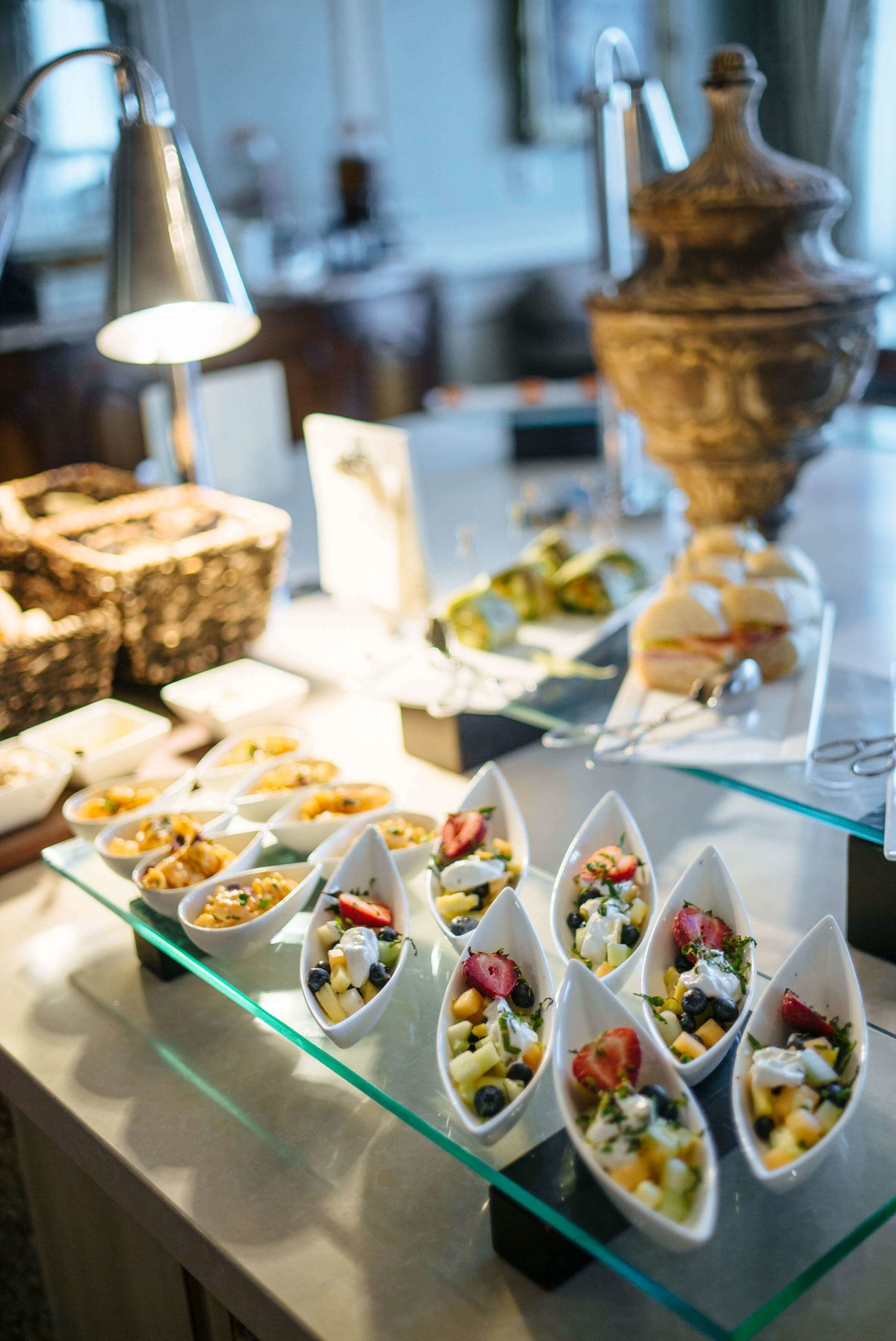 The club level food offerings at the best hotel in New Orleans, The Ritz-Carlton New Orleans, The Taste SF