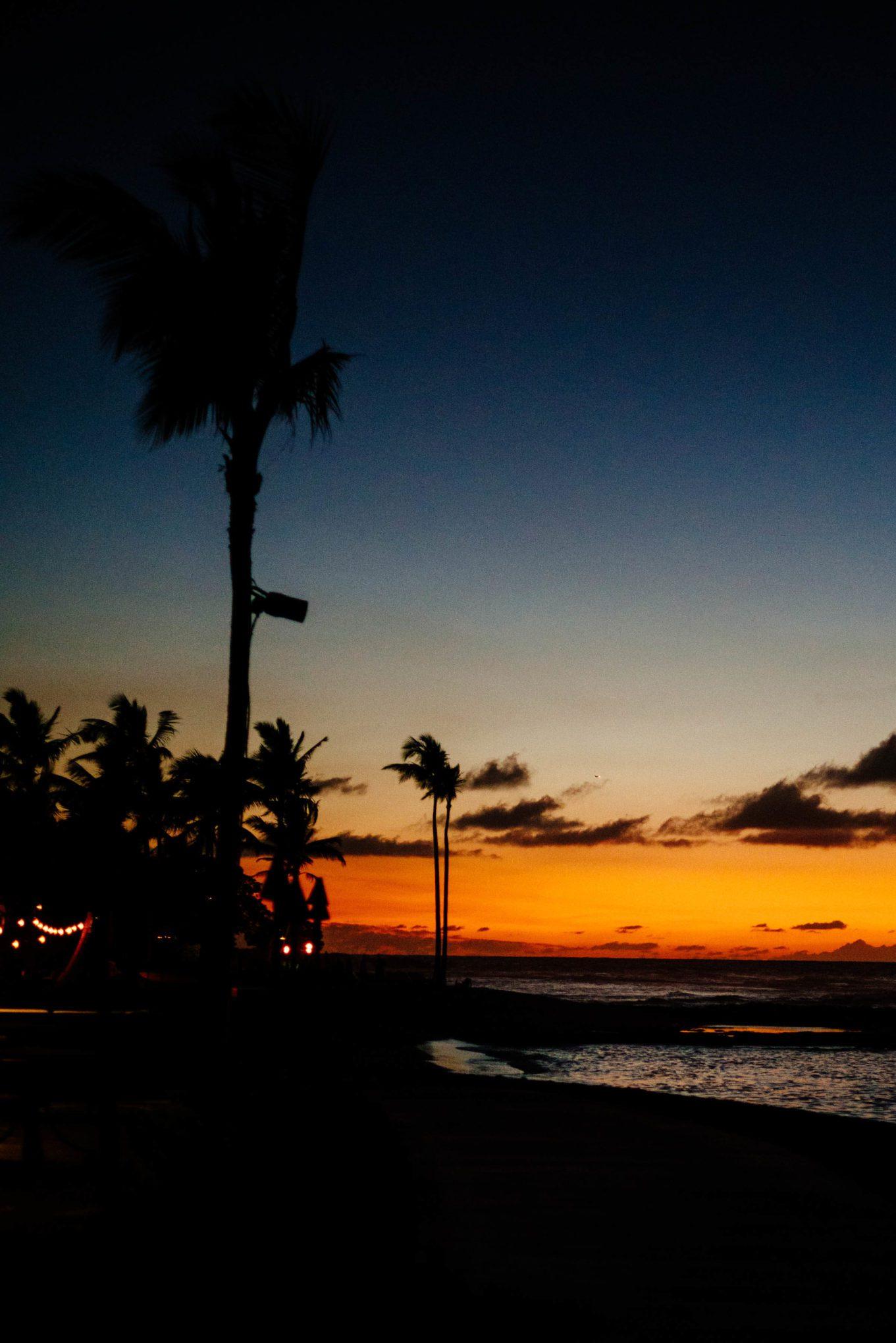 Hawaiian sunset at the Four Seasons Hualalai Hotel on the Big Island of Hawaii, The Taste Edit