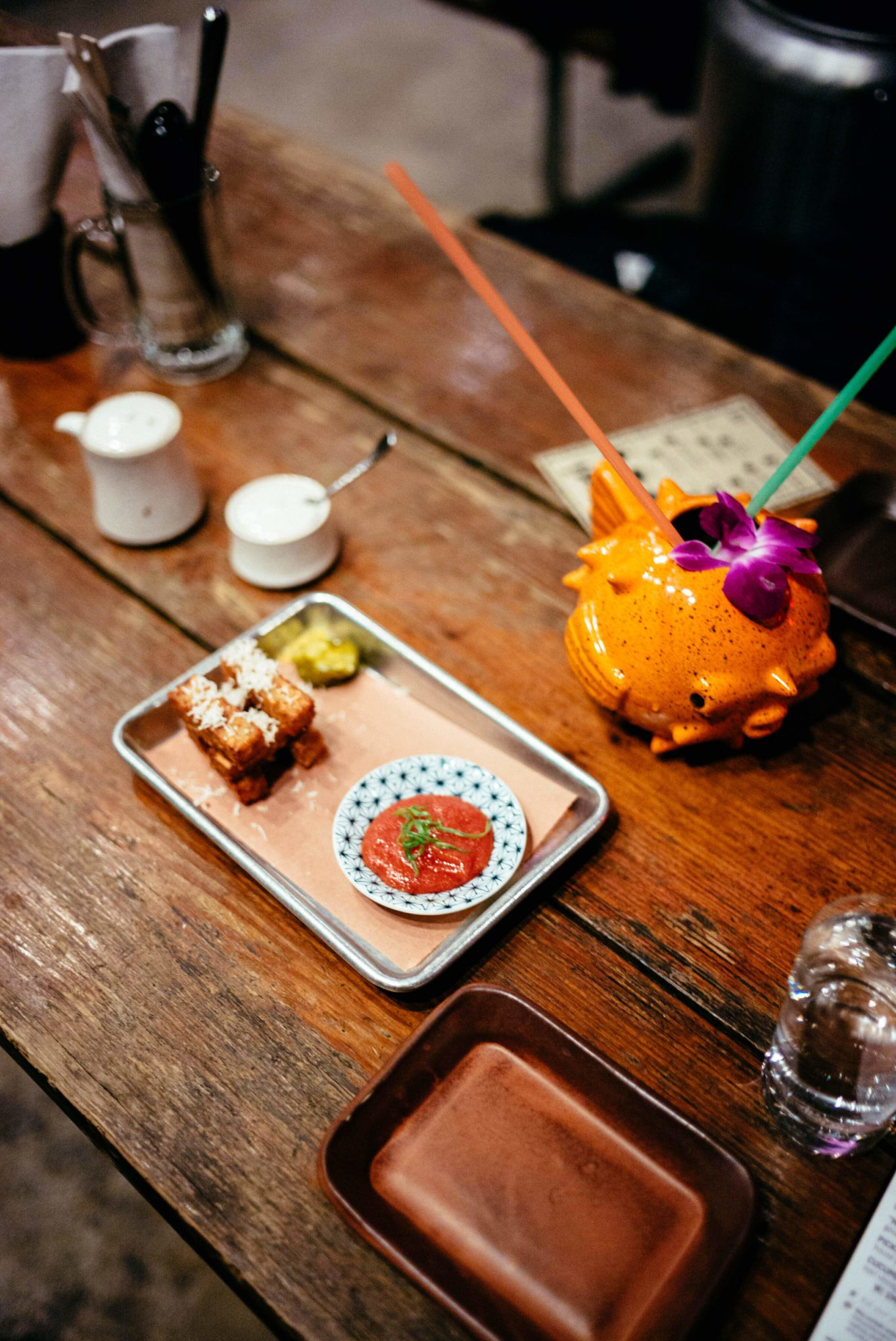 Have a dinner with The Taste Edit at kemuri-tatsuya the best Izakaya in Austin - try the HMentaiko N Tots, house tots, tallow, fresh horseradish, salted-roe ketchup