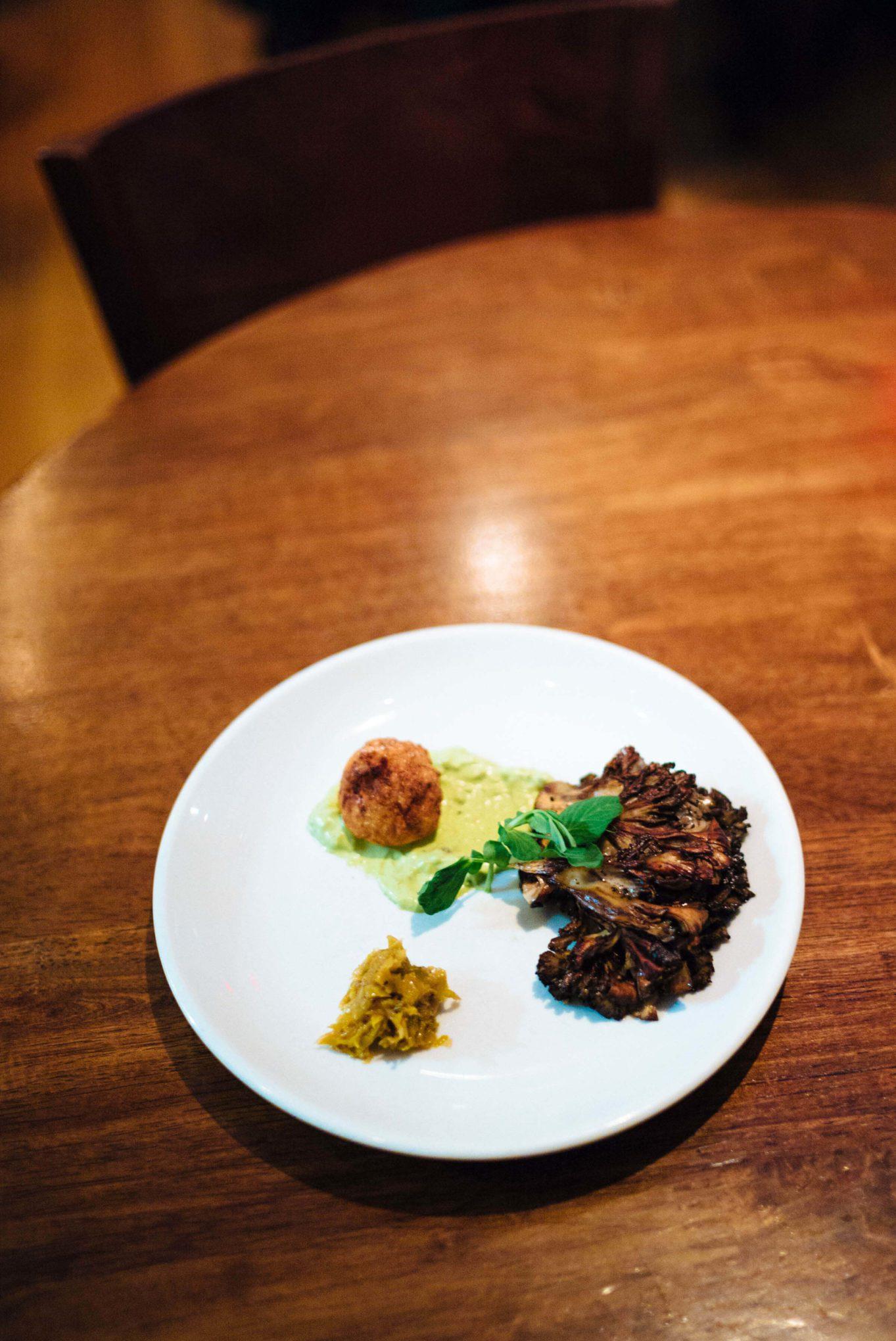 Eat at the best vegan restaurant in Philadelphia, Vedge, order the seared maitake mushroom The Taste SF
