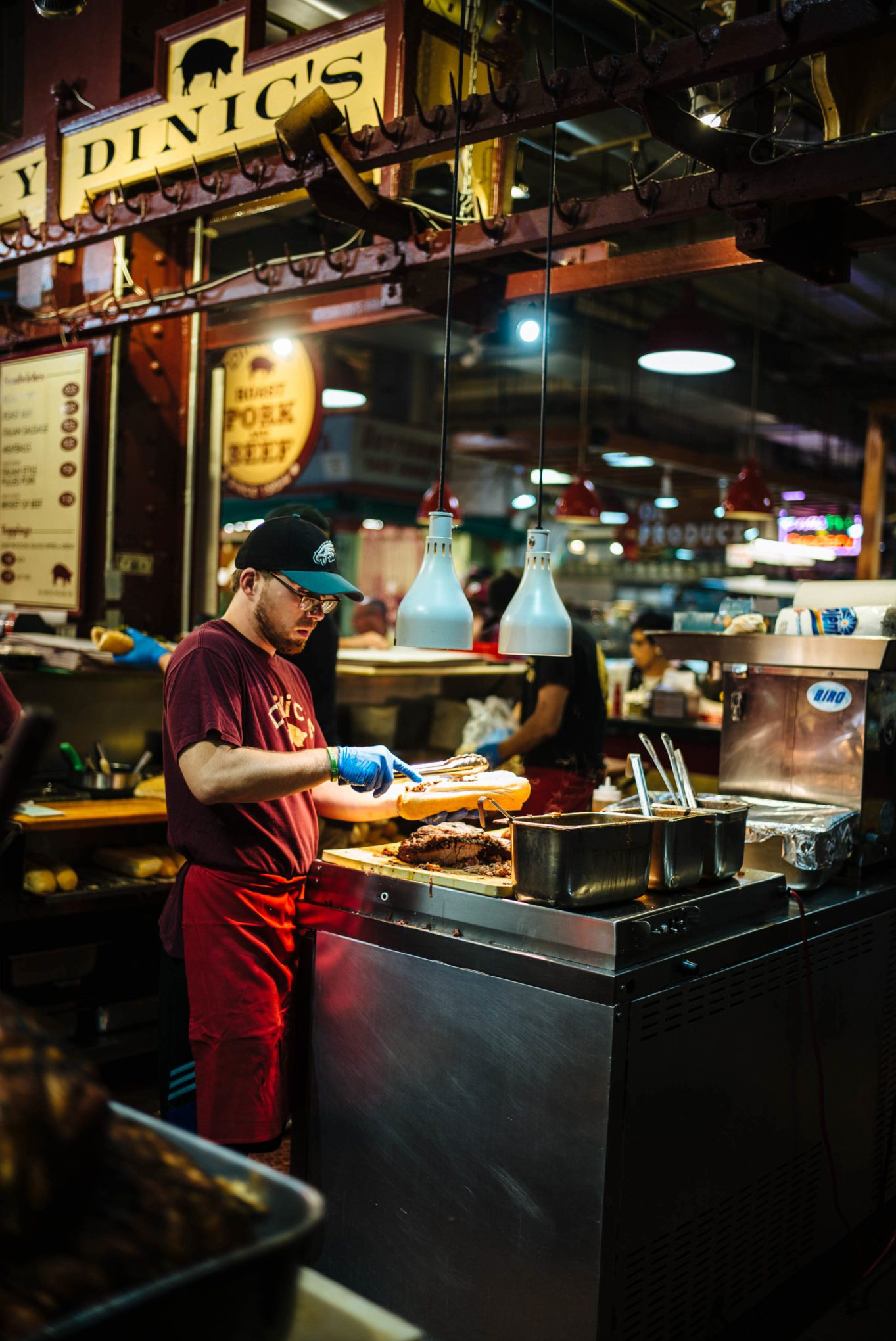 Visit Philadelphia for the best food and historical sites. You must visit the Reading Terminal Market for some of the best food in Philly in one place. #thetasteedit #travel #philadelphia #market #food #sandiwch #pork