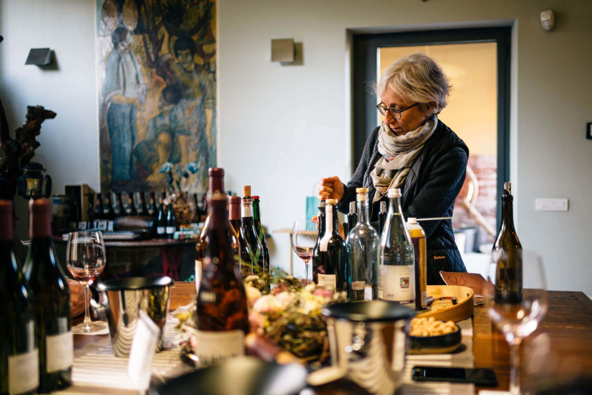 Maria Teresa Mascarello offers a tasting in Piedmont of her legendary Bartolo Mascarello complex wine.