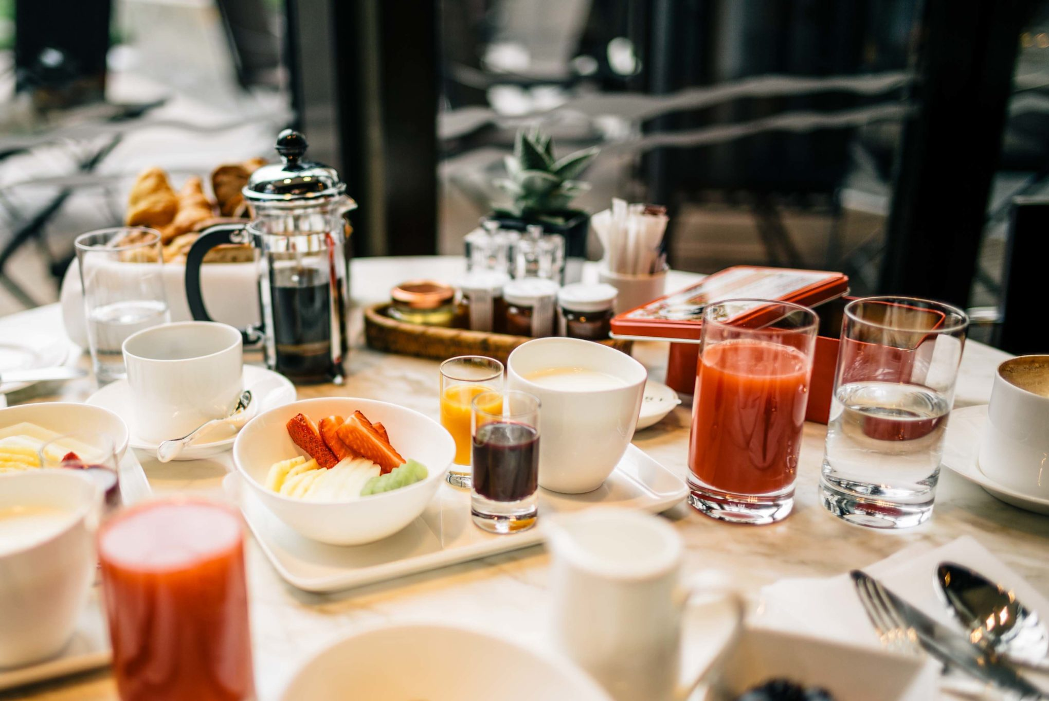 So many options for breakfast at Hotel Bulgari Milano, The Taste SF