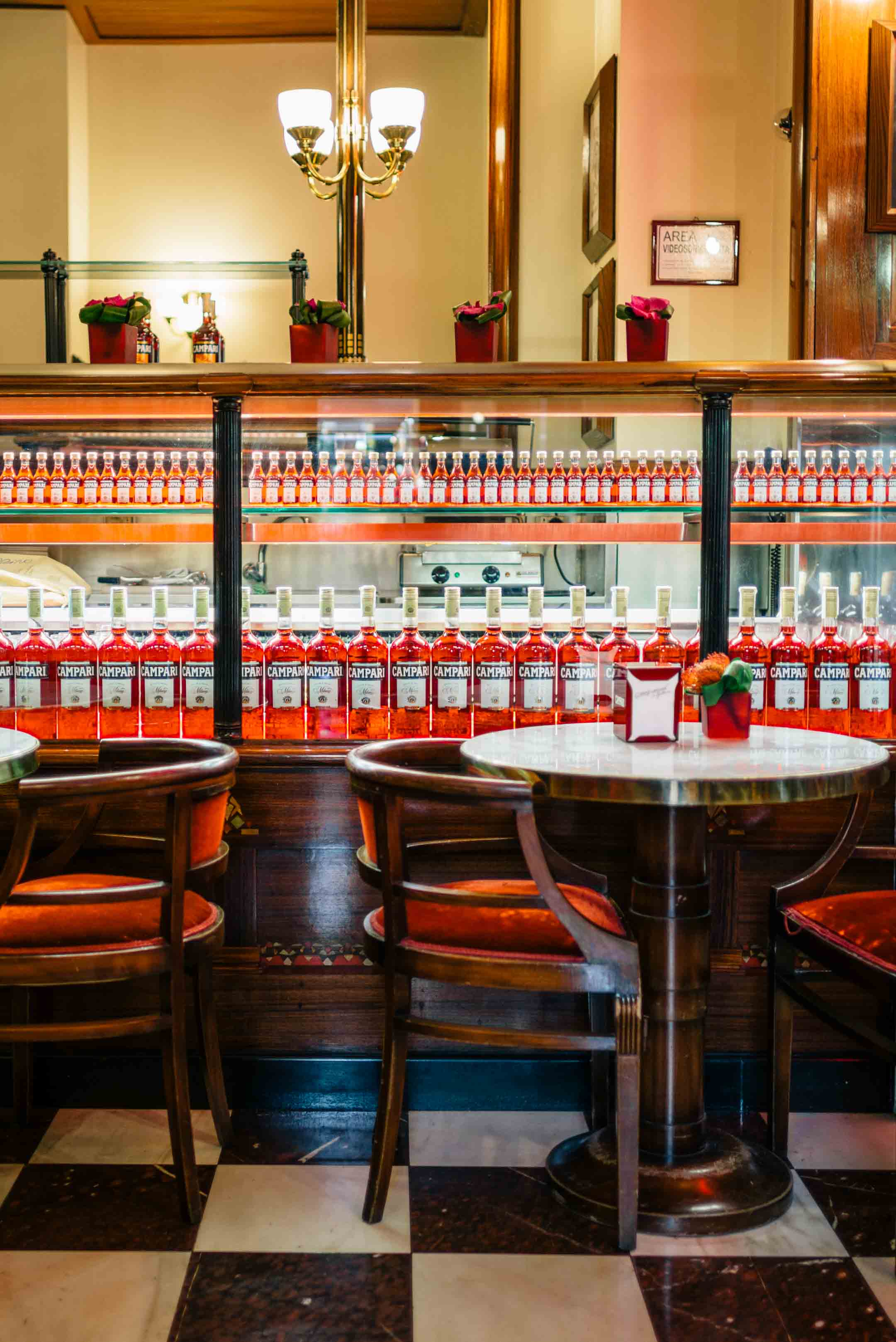 The Taste Edit recommends stopping at Camparino in Galleria in Milan - the original campari cocktail bar.